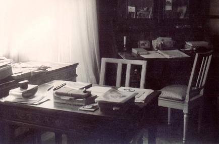 Lo scrittoio di Morselli nella casa di Gavirate